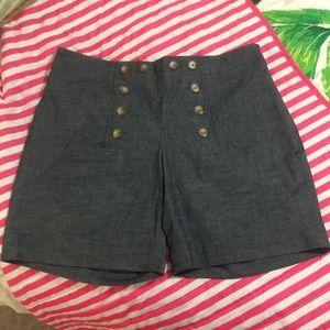 CREMIEUX Medium Rise Shorts NWT